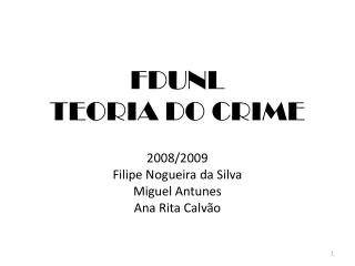 FDUNL TEORIA DO CRIME
