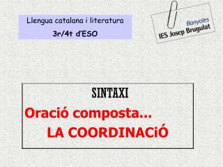 Llengua catalana i literatura 3r/4t d'ESO