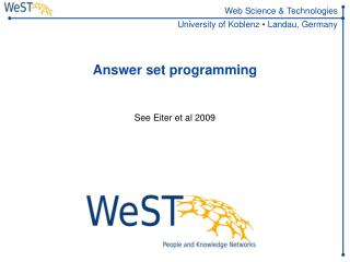 Answer set programming