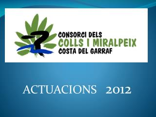 ACTUACIONS    2012