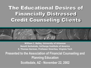 The Educational Desires of Financially Distressed Credit Counseling Clients