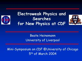 Electroweak Physics and Searches  for New Physics at CDF
