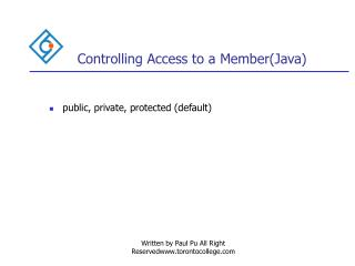 Controlling Access to a Member(Java)