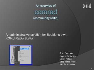 An overview of comrad (community radio)