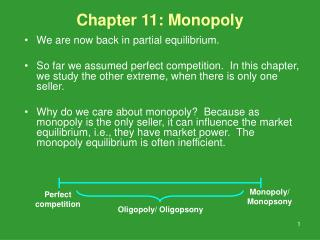 Chapter 11: Monopoly