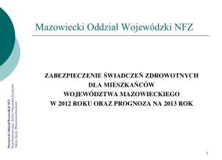 Mazowiecki Oddział Wojewódzki NFZ