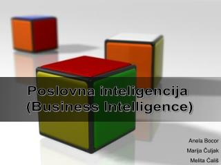 Poslovna inteligencija  (Business Intelligence)