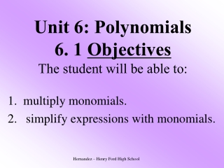 4-8 Multiplying and Dividing Monomials