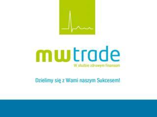 Przedmiot działalności Usługi i produkty MW Trade Etapy rozwoju spółki