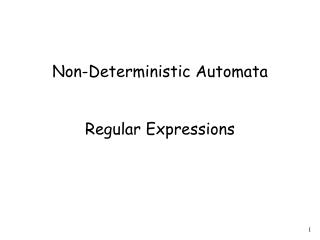 Non-Deterministic Automata Regular Expressions