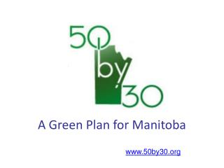 A Green Plan for Manitoba