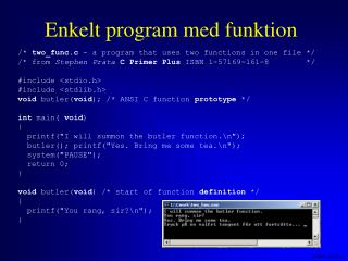 Enkelt program med funktion