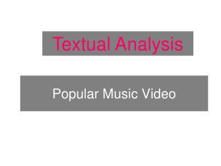 Popular Music Video