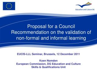 Proposal for a Council Recommendation on the validation of non-formal and informal learning