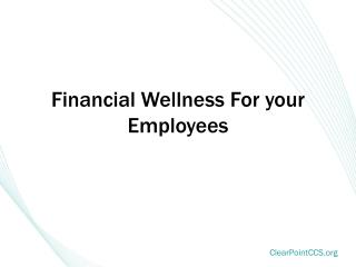 Financial Wellness For your Employees