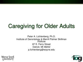 Caregiving for Older Adults