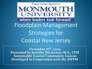 Floodplain Management Strategies for  Coastal New Jersey