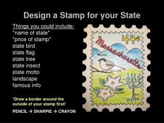 Design a Stamp for your State