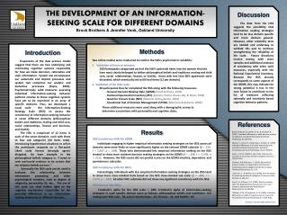 THE DEVELOPMENT OF  AN INFORMATION-  SEEKING SCALE FOR DIFFERENT DOMAINS