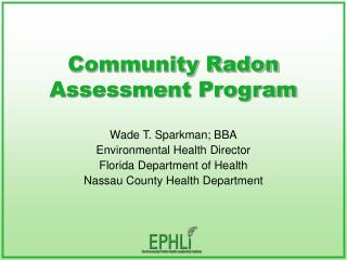 Community Radon Assessment Program