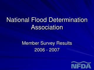 National Flood Determination Association