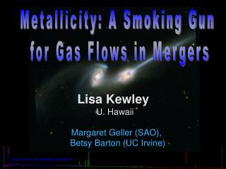 Metallicity: A Smoking Gun  for Gas Flows in Mergers