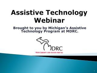 Assistive Technology Webinar