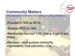 Community Matters The National Federation of Community Organisations