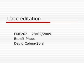 L'accréditation