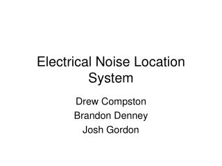 Electrical Noise Location System