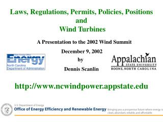 A Presentation to the 2002 Wind Summit