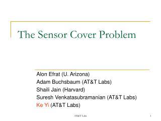 The Sensor Cover Problem