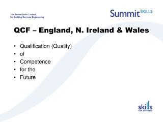 QCF � England, N. Ireland & Wales