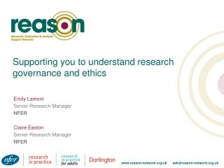 Supporting you to understand research governance and ethics