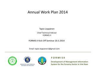 Annual Work Plan 2014