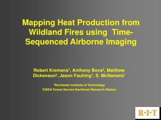 Mapping Heat Production from Wildland Fires using  Time-Sequenced Airborne Imaging