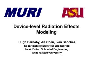 Device-level Radiation Effects Modeling