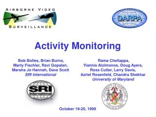 Activity Monitoring October 19-20, 1999