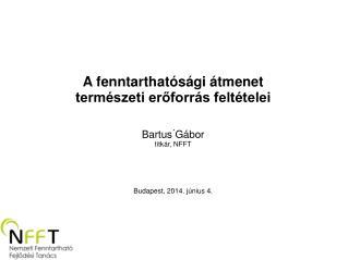 A fenntarthatósági átmenet természeti erőforrás feltételei  Bartus Gábor titkár, NFFT