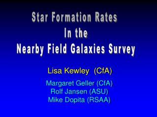 Lisa Kewley  (CfA)