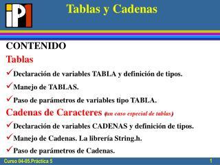 Tablas y Cadenas