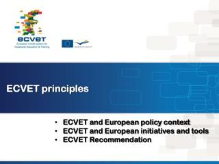 ECVET principles