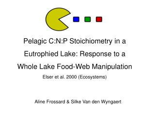 Pelagic C:N:P Stoichiometry in a  Eutrophied Lake: Response to a  Whole Lake Food-Web Manipulation