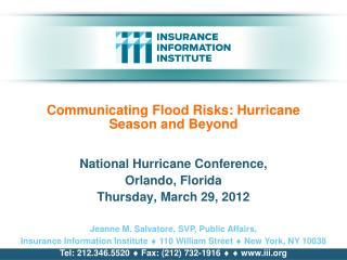 Communicating Flood Risks: Hurricane Season and Beyond
