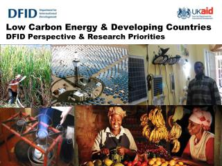 Low Carbon Energy & Developing Countries DFID Perspective & Research Priorities