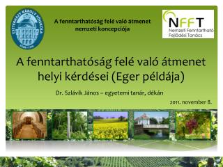 A fenntarthatóság felé való átmenet helyi kérdései (Eger példája)