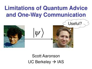 Limitations of Quantum Advice and One-Way Communication
