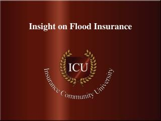 Insight on Flood Insurance