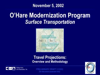 O'Hare Modernization Program Surface Transportation Travel Projections: Overview and Methodology