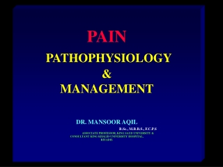 Modulation of Pain in the CNS